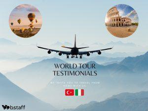 Voyagez avec nous: témoignages du monde entier. Découvrez l'Italie et la Turquie avec Paolo Pietrobon, de Fraccaro Spumadoro et  Evren Begec, du groupe TUYAP
